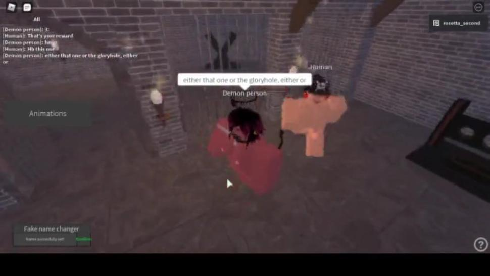 Submissive Roblox demon girl fucked silly