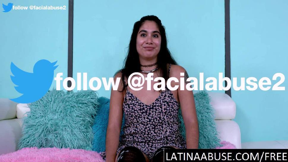 LATINA THROATS - Stupid Latina facefucked brutally