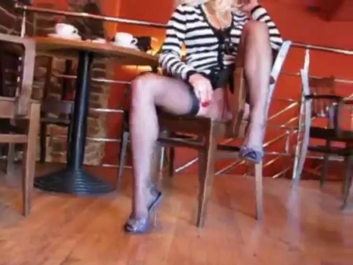 Nylon Teasing Stockings - video 1