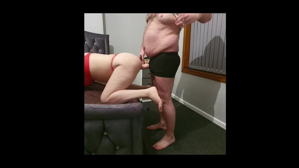 Step mother take 11 inch of dick in her stomach being fucked by step son