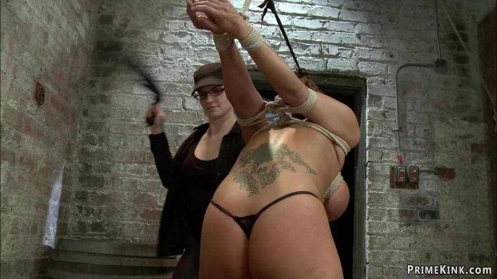 Bound huge boobs lesbian whipped