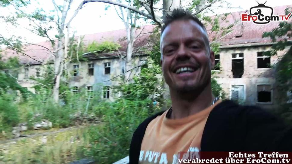 EROCOM.TV - german big natural boobs milf at real pick up sexdate pov