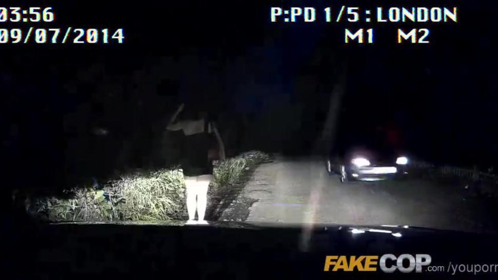 Fake Cop Slut so tight for policemans helmet
