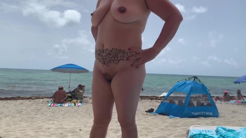 Nude beach fun after the lockdown