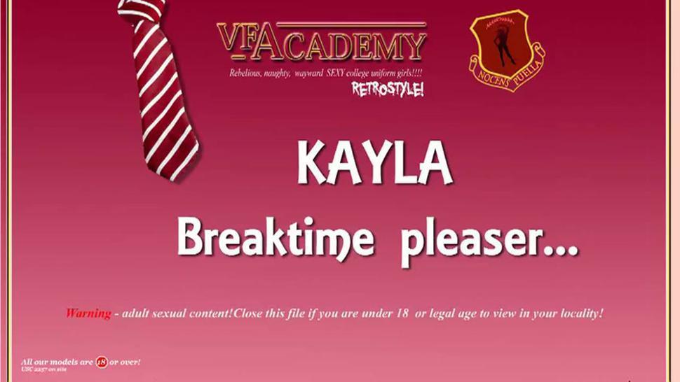 Woman In Stockings Kayla Gets Break Time Pleasures - Kayla Louise