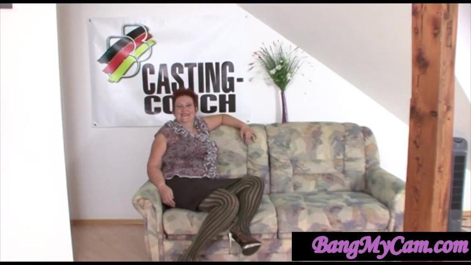 Amateur/milf/mature bbw audition german