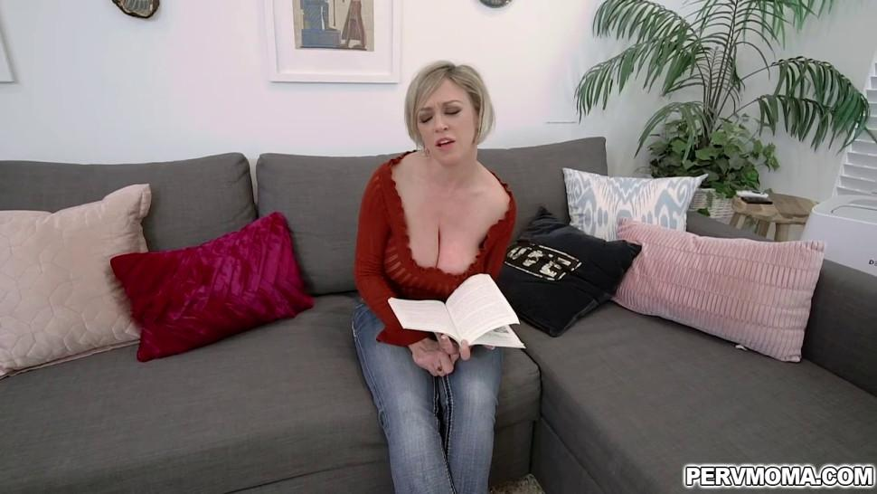 Dee Williams whips out her growing boobs and slides stepsons thick cock