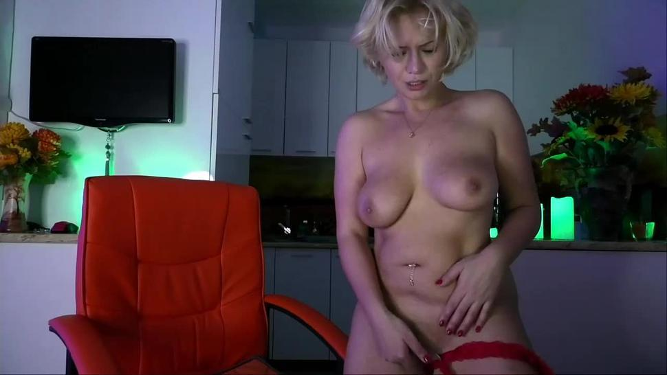 lovely Kira plays with her divine pussy