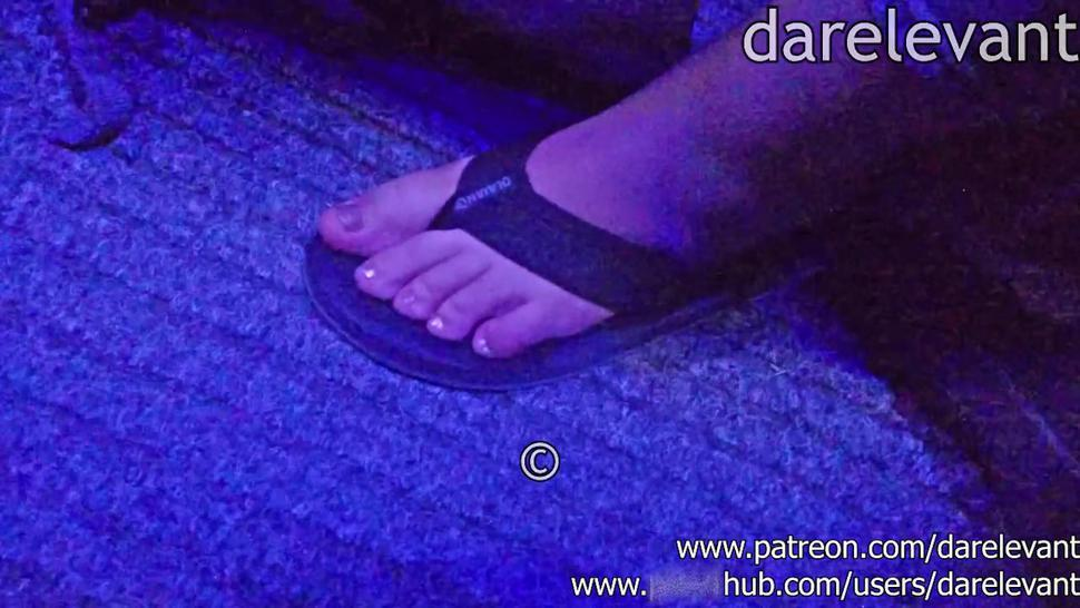 unknown crush candid feet trample CFT01 rough crush candid trample flip flops