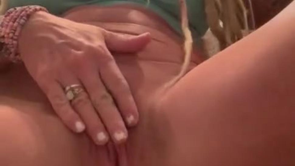 Sexy milf talks dirty while taking dildo in ass and pussy