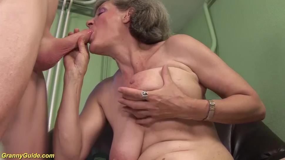 GRANNYGUIDE - hairy moms first rough big cock sex