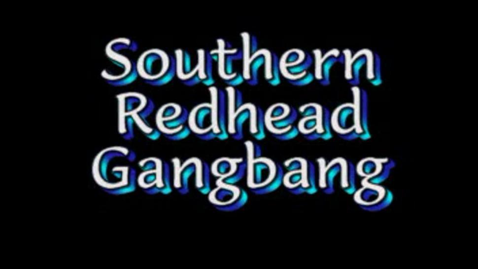southern redhead bbc gangbang