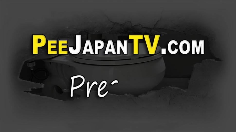 PISS JAPAN TV - Squatting asians urinate into public toilet