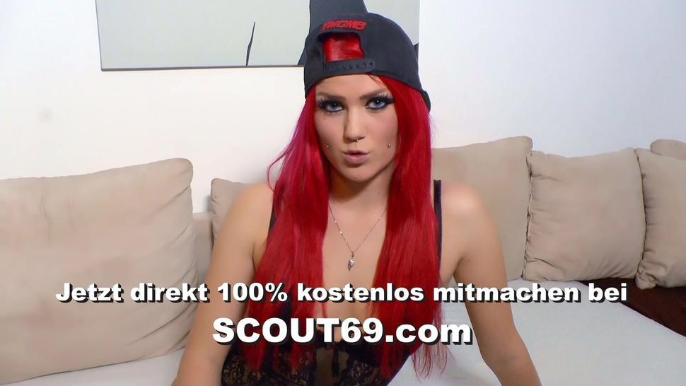 SCOUT69 - Skinny German Teen Cheating Fuck in Sauna While Friend Wait