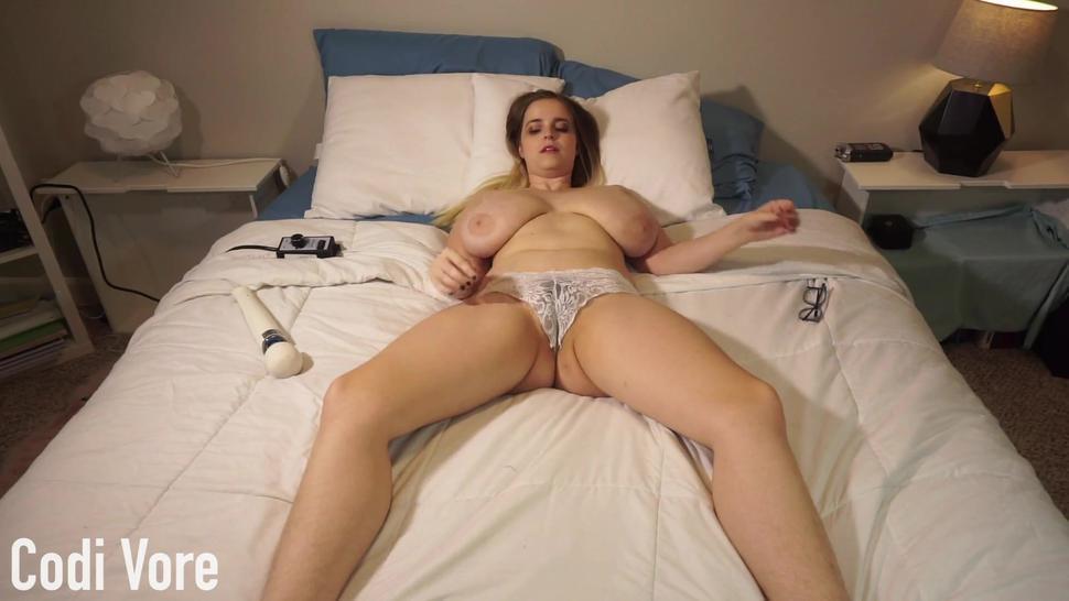 Cumming in White Lace Panties Preview Codi Vore