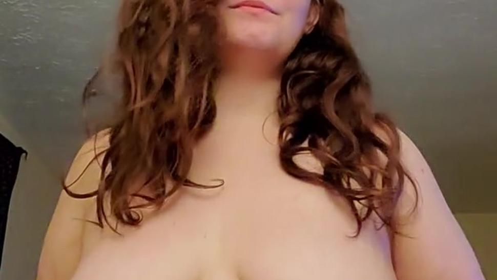 BBW smokes and dances around shaking boobs and rubbing pussy