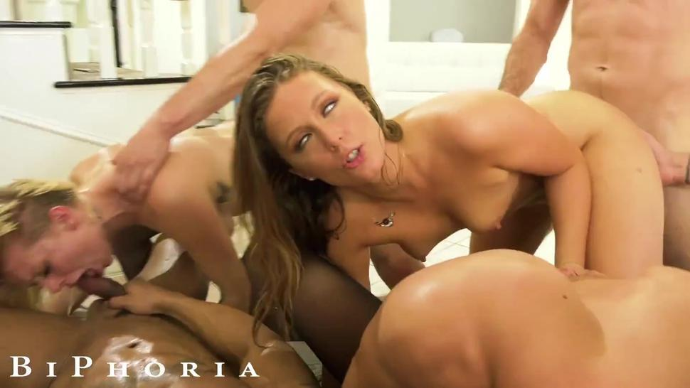 BiPhoria - Guys Get Turned On Fighting Over Girl