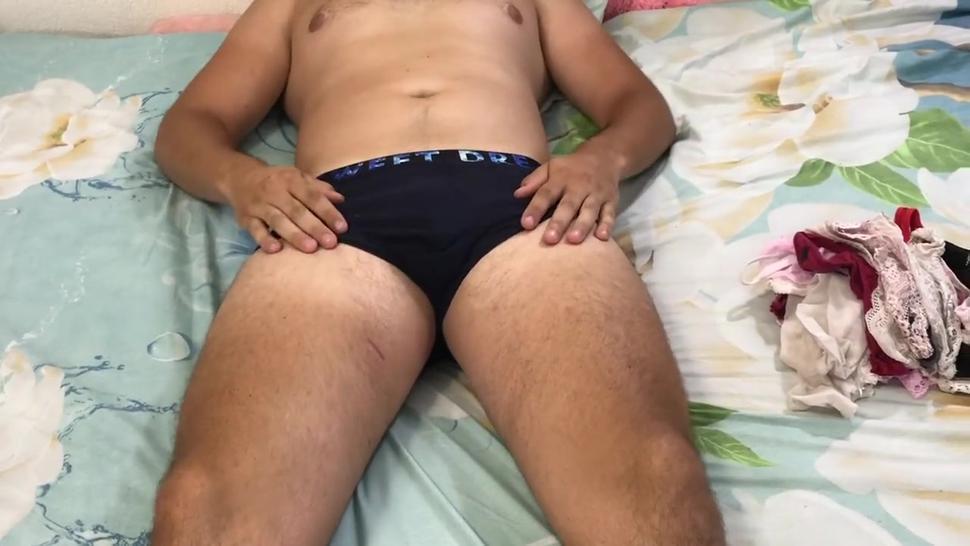 Boy loves women's panties