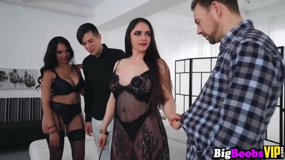 Latina Katrina Moreno And Spanish Marta La Croft In Foursome - Alexandra Sivroskya