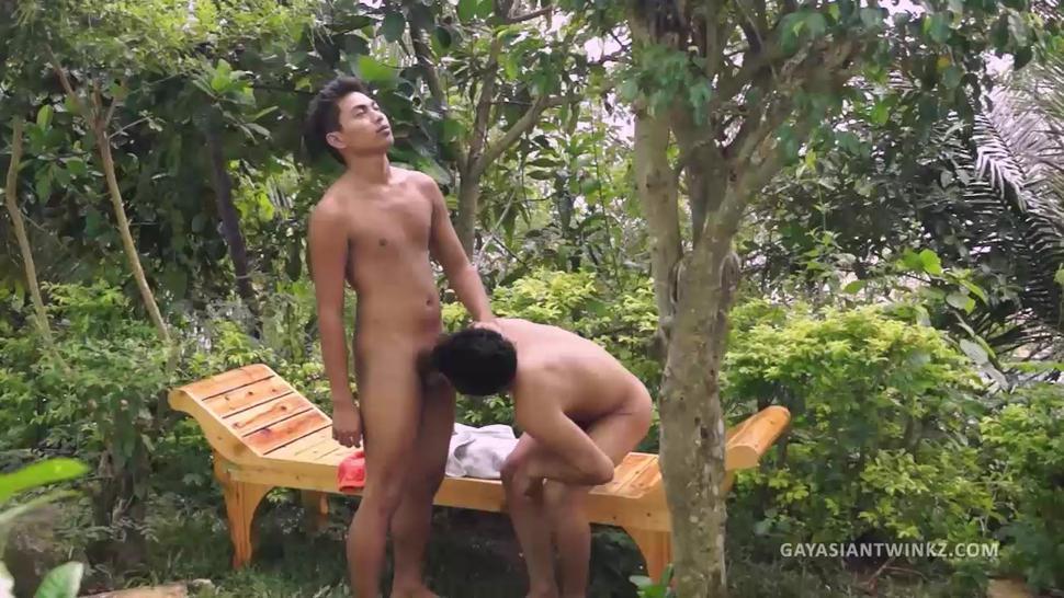 Asian Boys Josh and Nathan Barebacking