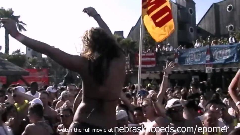 Spring Break Whipped Cream Bikini Contest