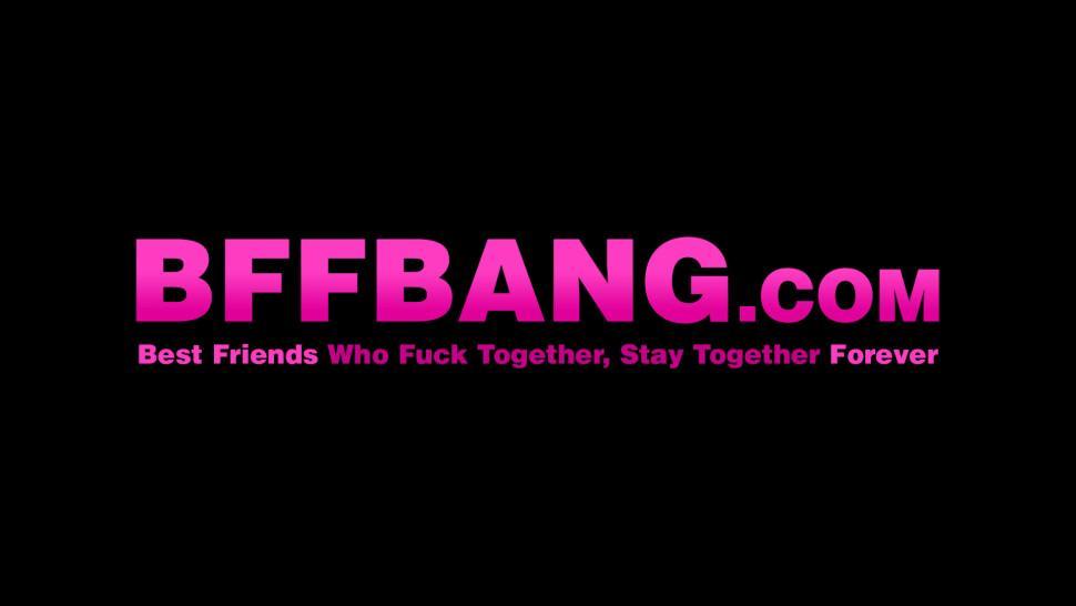 BFF BANG - Three horny teen gymnasts banged by big cocked trainer