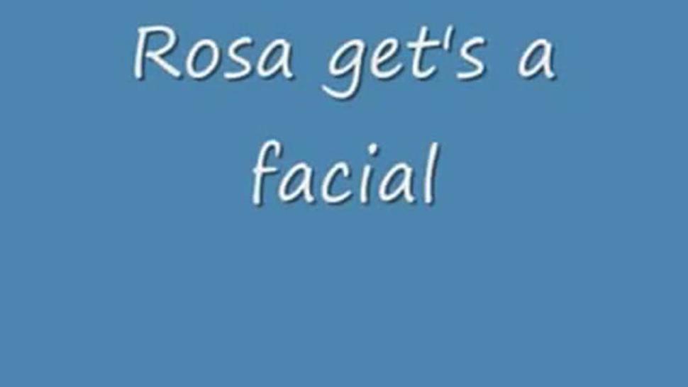 Latina girl Rosa gets a facial by another man