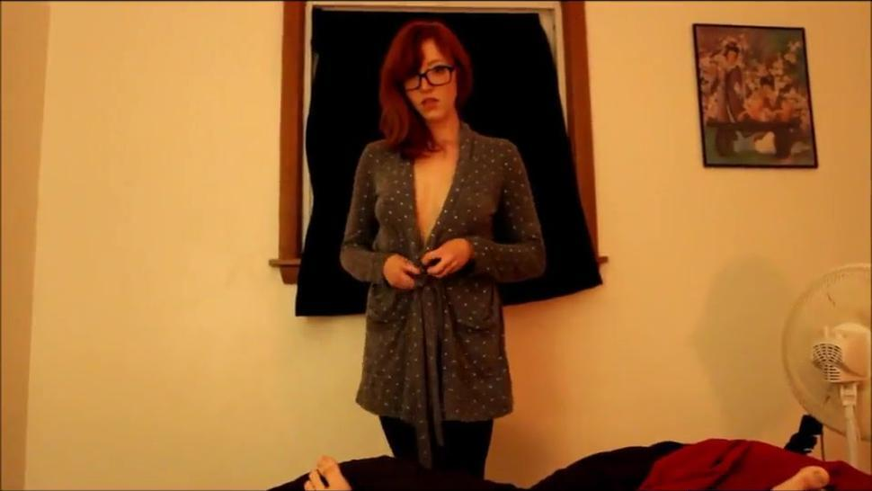 Webcam/redhead then dick naked gets