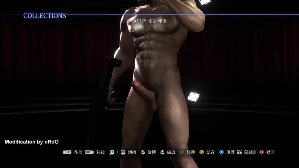 Resident Evil 6 Chris Redfield Nude Mod no scarf version & Male Enemy
