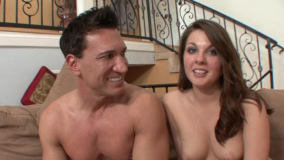 Daddy gives multiple orgasm to horny stepdaughter