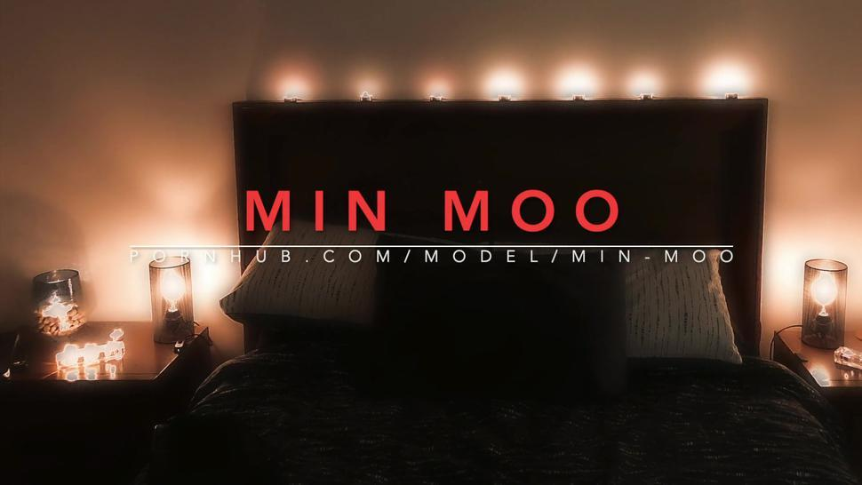 Sensual sexy strapon pegging - Moo knows how to screw him -  MIN MOO