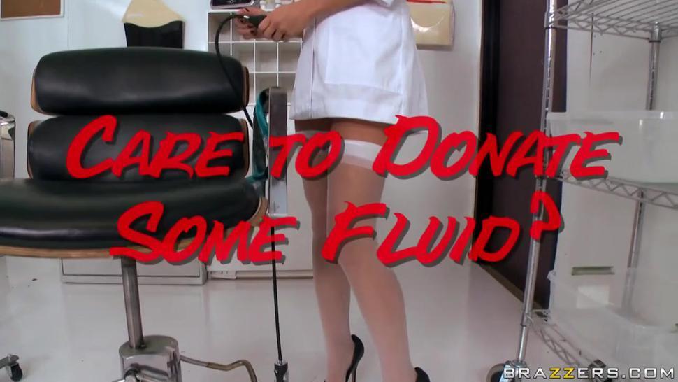 Sperm donor fucks cute nurse's tight asshole rough