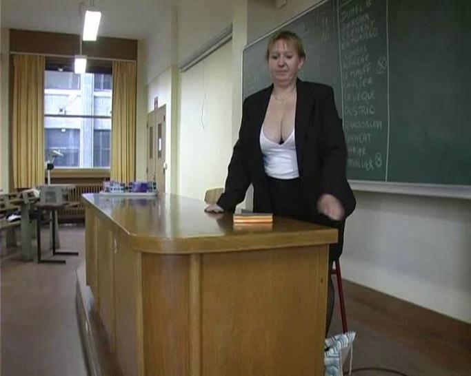 French teacher gangbanged by her students