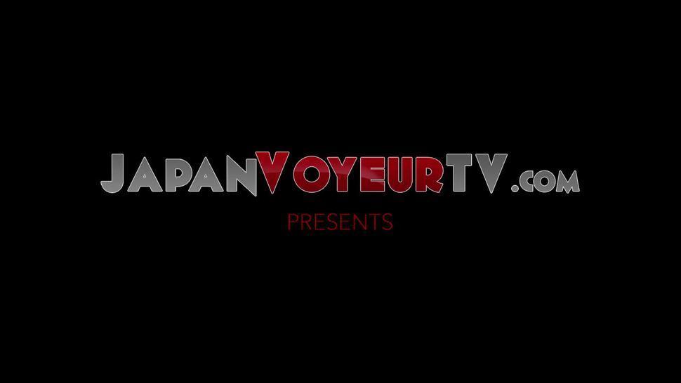 JAPAN VOYEUR TV - Japanese woman recorded pleasing herself in toilet by voyeur