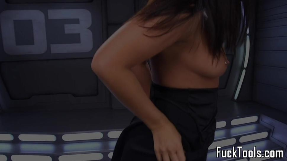 Busty Girl Toys Pussy While Fisting Her Ass - Roxy Raye