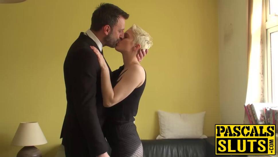 PASCALS SLUTS - Horny Mia Milan sucking a cock before taking it in
