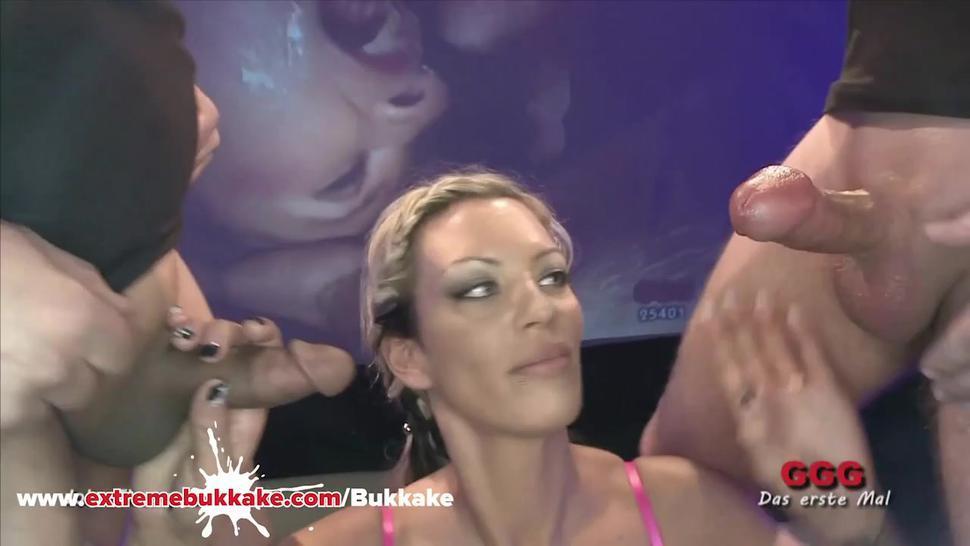 Hot Angelina Gets Multiple Loads Of Cum - Extremebukkake