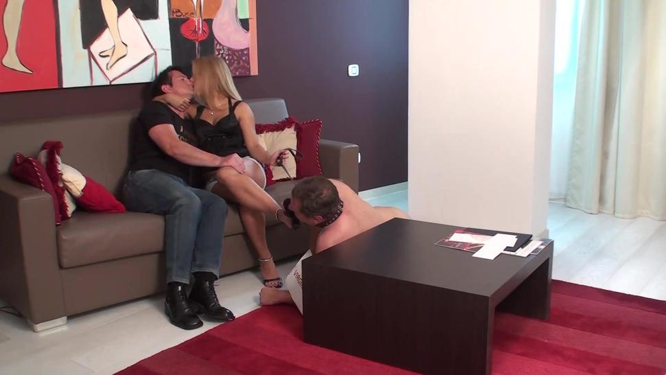 ruler couple humiliate their cuckold loser slave