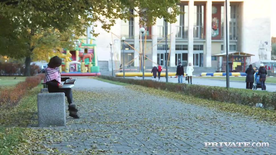 Private.com - New Russian Teen Sandra Wellness Gets Her First Creampie