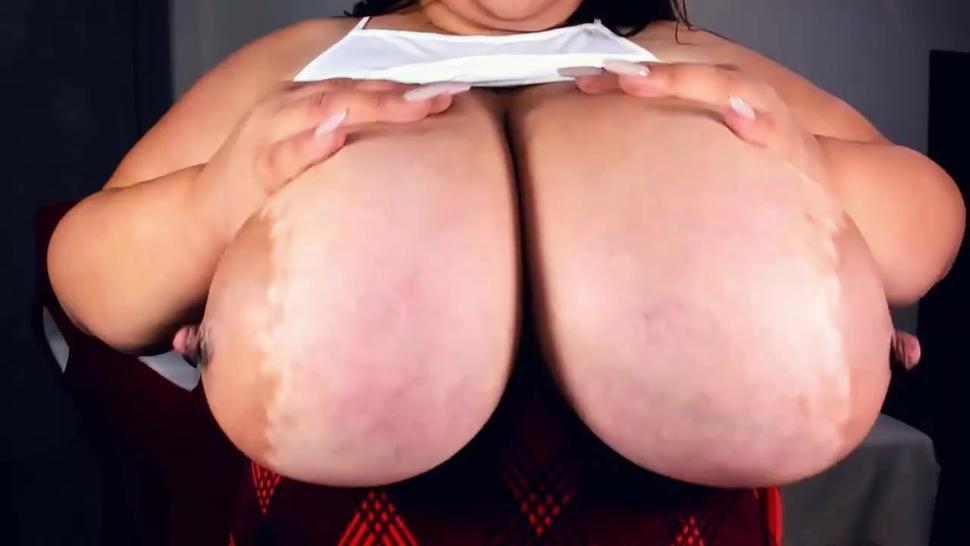 Skinny Latina Babe Has Huge Boobs