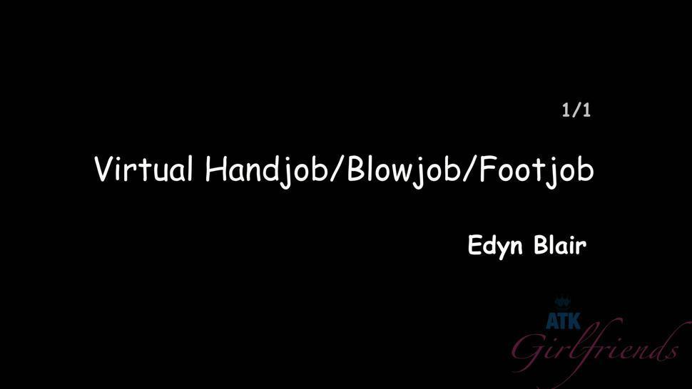 Nice Handjob, Blowjob And Footjob - Edyn Blair