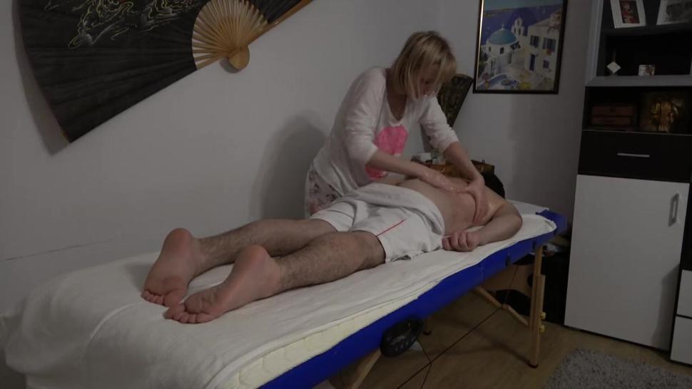 Russian Mature Horny Masseuse Fucks Young Client Part1