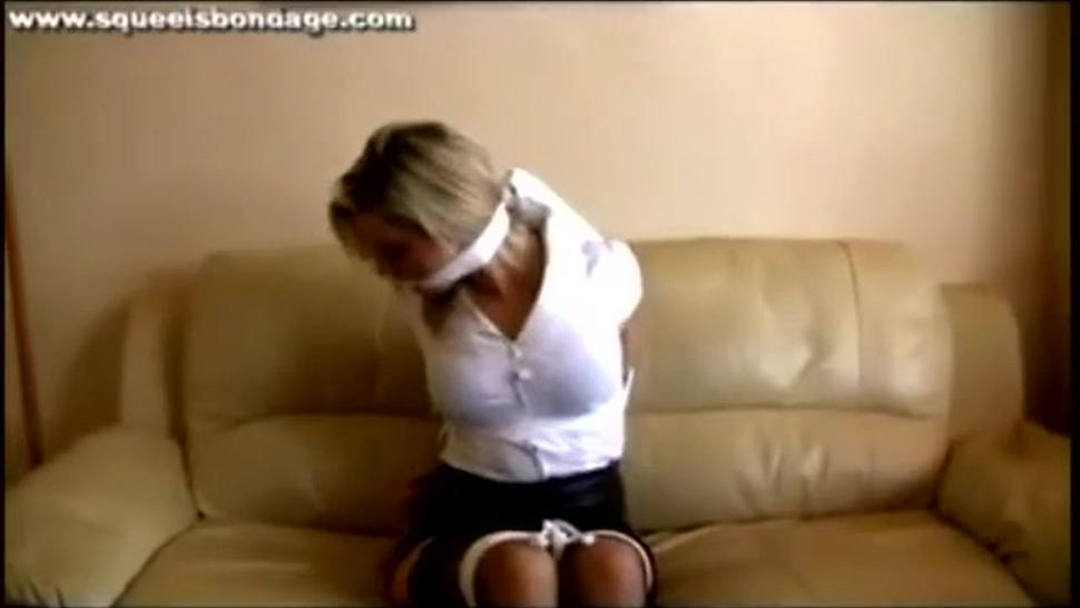 Cleave gagged blonde