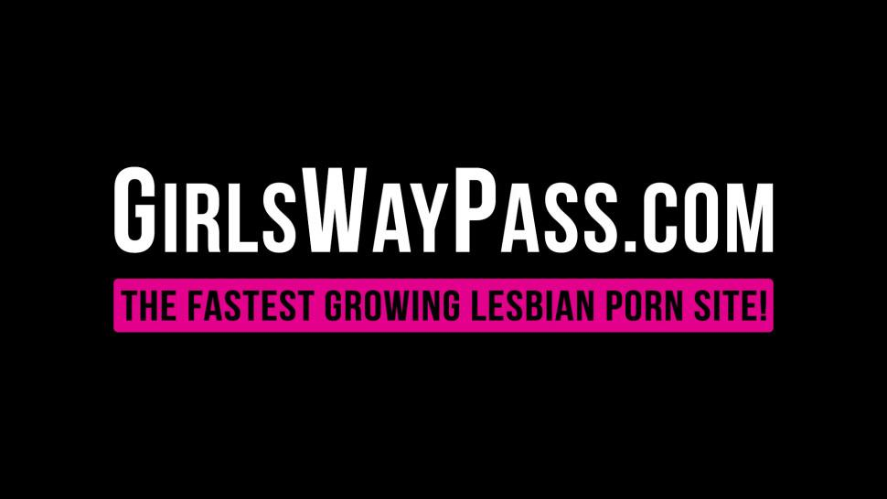 GIRLSWAY PASS - Lesbo Abella Danger fingering lesbos to squirt in three way