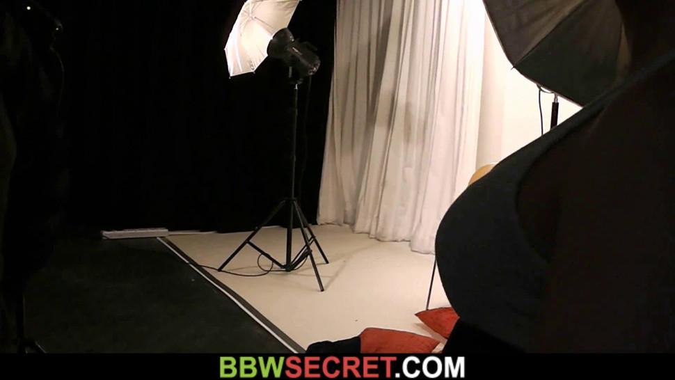 BBW SECRET - He cheats with mega-boobs brunette plumper