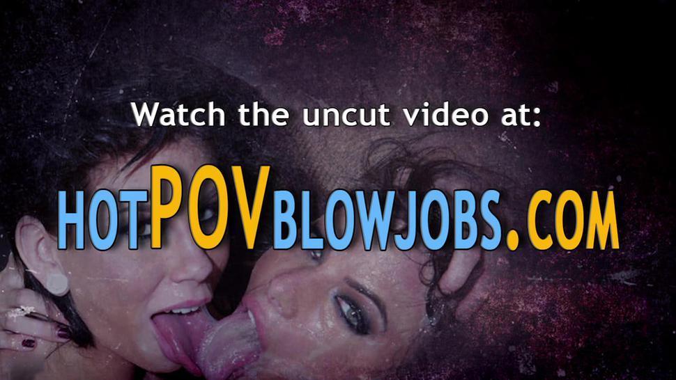 POV BLOWJOBS - Babe pov gagging on cock sucking