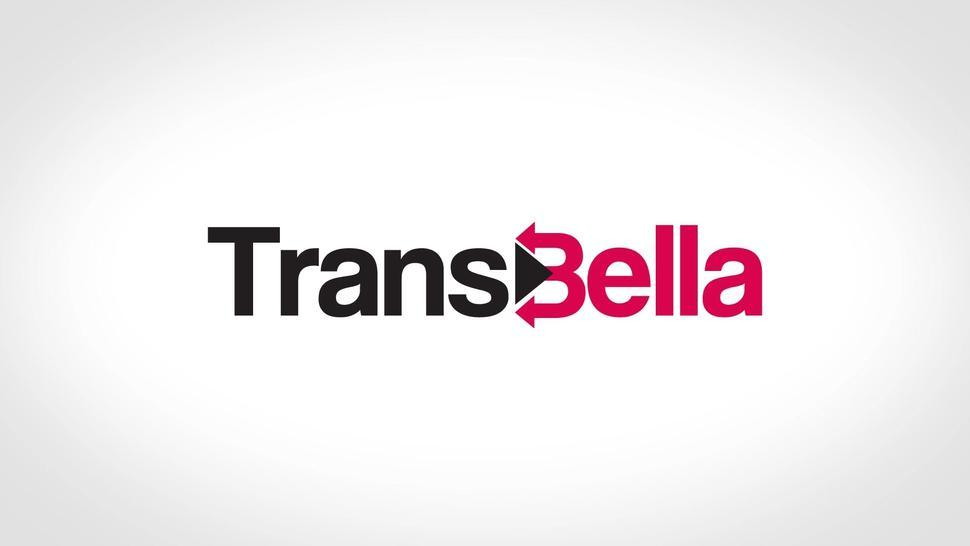 Transbella - #Renata Ribeiro - Big Boobs Latina Tranny Ass Pounded In Rough 3Way