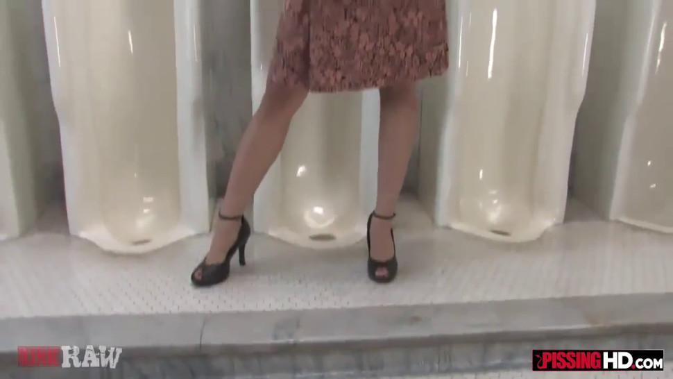 Asian Piss Goddess used as Urinal