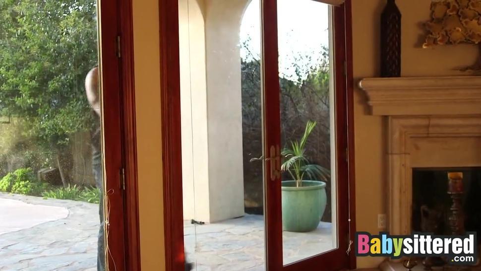 Babysittered - Ginger Babysitter loves her big black boyfriend! Full Scene