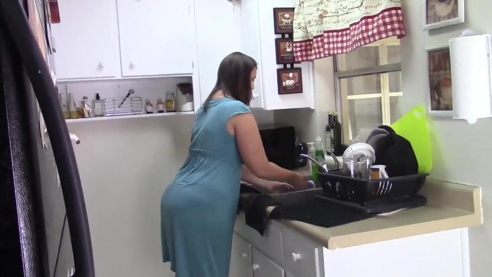 Big-assed MILF and blonde simulate sex in doggystyle